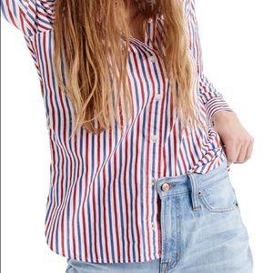 J.Crew Classic Fit Boy Shirt Trifectra Stripe